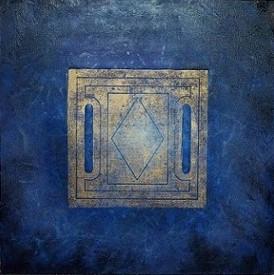 č.326/4, Mandala a tisk z cyklu Příběh dvanácti obrazů z Pražského hradu, 17.7. 2018, olej na plátně, rozměr plátna 100 x 100 cm, cena obrazu 100 000,- Kč
