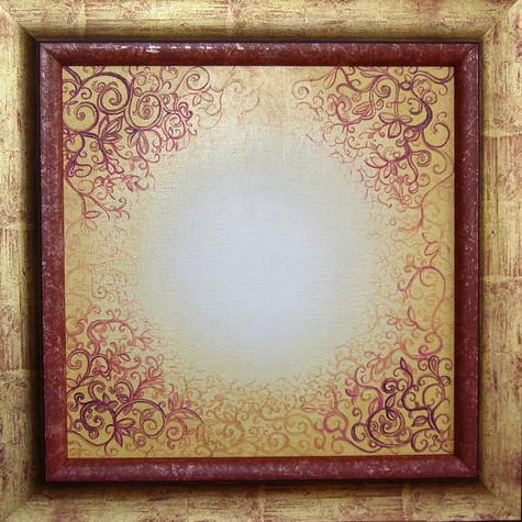 č.254, Orientálni mandala1, 2015, olej na plátně, rozměr plátna 40 x 40 cm, cena 15 000,-Kč