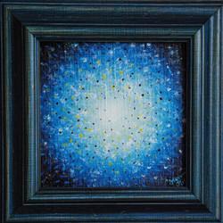 č.315, Hvězda - mandala, 2018, olej na plátně, rozměr plátna 18 x 18 cm, cena obrazu 2500,-Kč