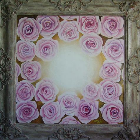 č.271, Rosa, 2016, olej na plátně, rozměr plátna 50 x 50 cm, cena 20 000,-Kč