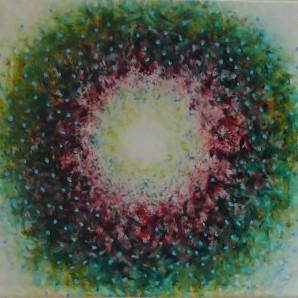 č.273, Mandala - Tepající srdce, 2016, olej na plátně, rozměr plátna 80 x 80 cm, cena obrazu 10 000,-Kč prodej v kosmetickém salonu Mary v domě služeb, ul Svatováclavská, Uherské Hradiště, tel:608727864