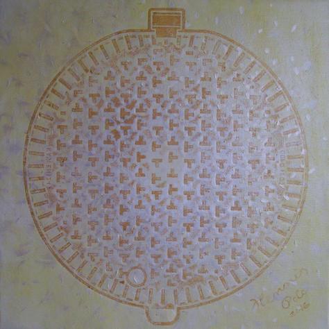č.277, Mandala, 2016, technika olej na plátně, rozměr plátna 82,2 x 82,2 cm, cena obrazu 15 000,-Kč