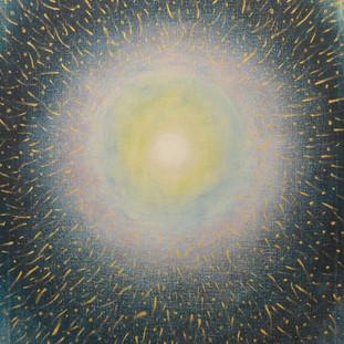č.267, Velké světlo noční oblohy, 2015, olej na plátně, rozměr plátna 90 x 120 cm, cena obrazu 25 000,-Kč