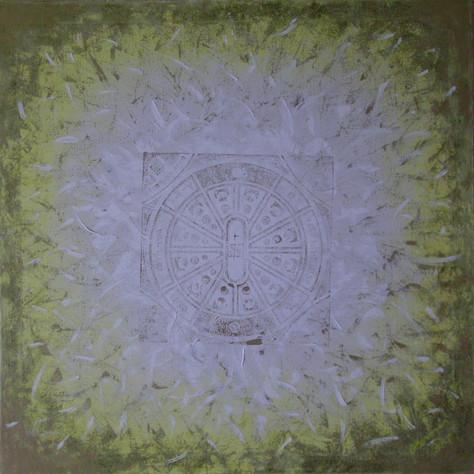 č.231, Mandala, 2013, olej na plátně, rozměr plátna 90 x 90 cm, cena obrazu 15 000,-kč