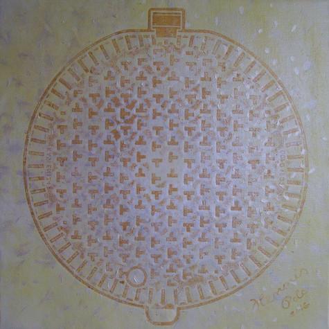 č.277, Mandala, 2016, olej na plátně, rozměr obrazu 82,2 x 82,2 cm, cena obrazu 15 000,-Kč