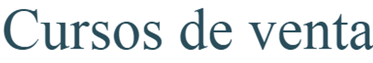 Curso de Ventas. Formación en DIRECTO on-line o presencial