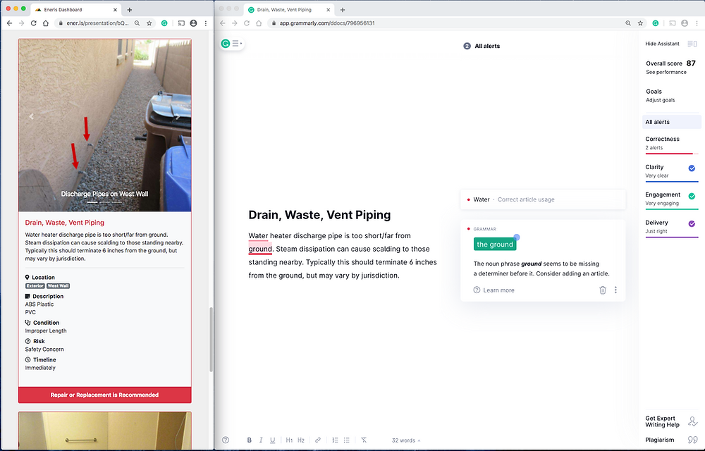 Eneris and Grammarly working together