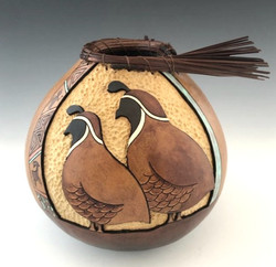 Two Quail by Kristy Dial