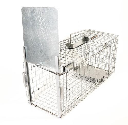 Gabbia Trappola per Catturare Animali vivi. 60x22x25cm.