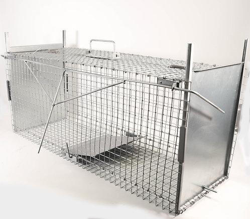 Gabbia Trappola per Catturare Animali Vivi. 100x36x40cm.