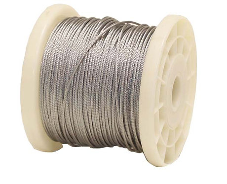Stainless steel braided cable 100m (0.7mm)