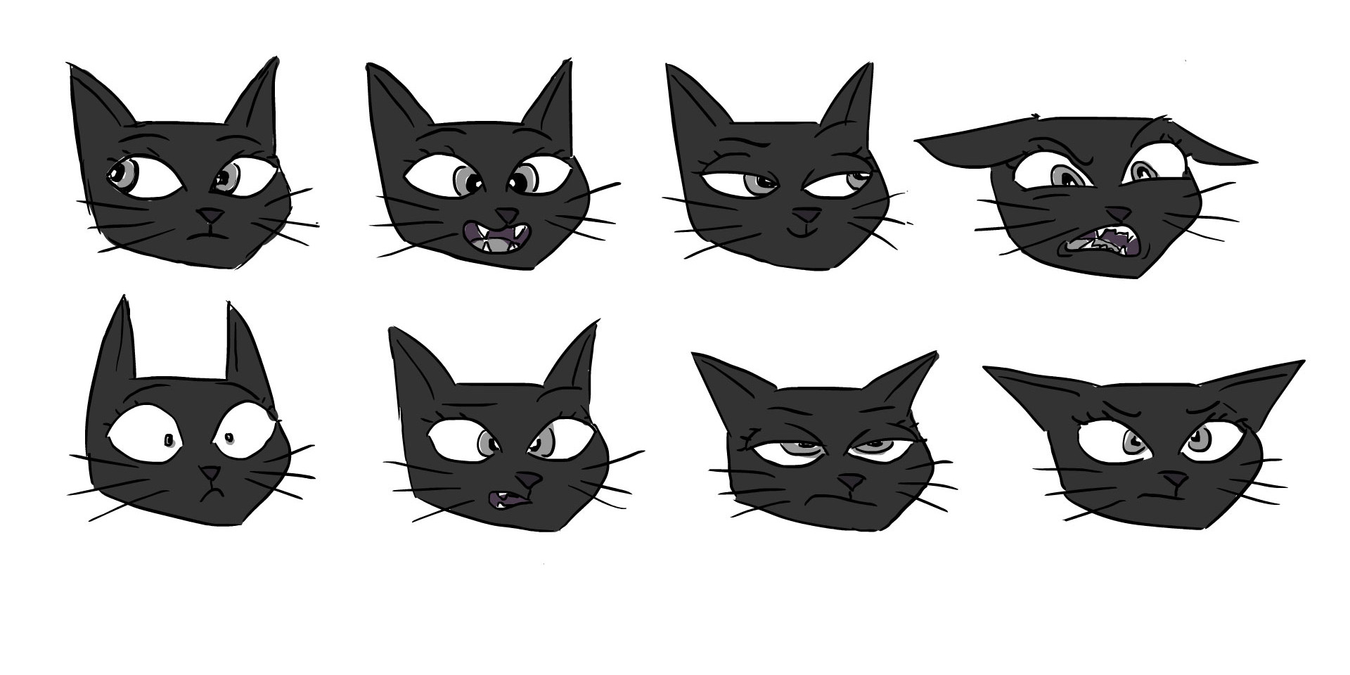 Female Cat Face Expressions