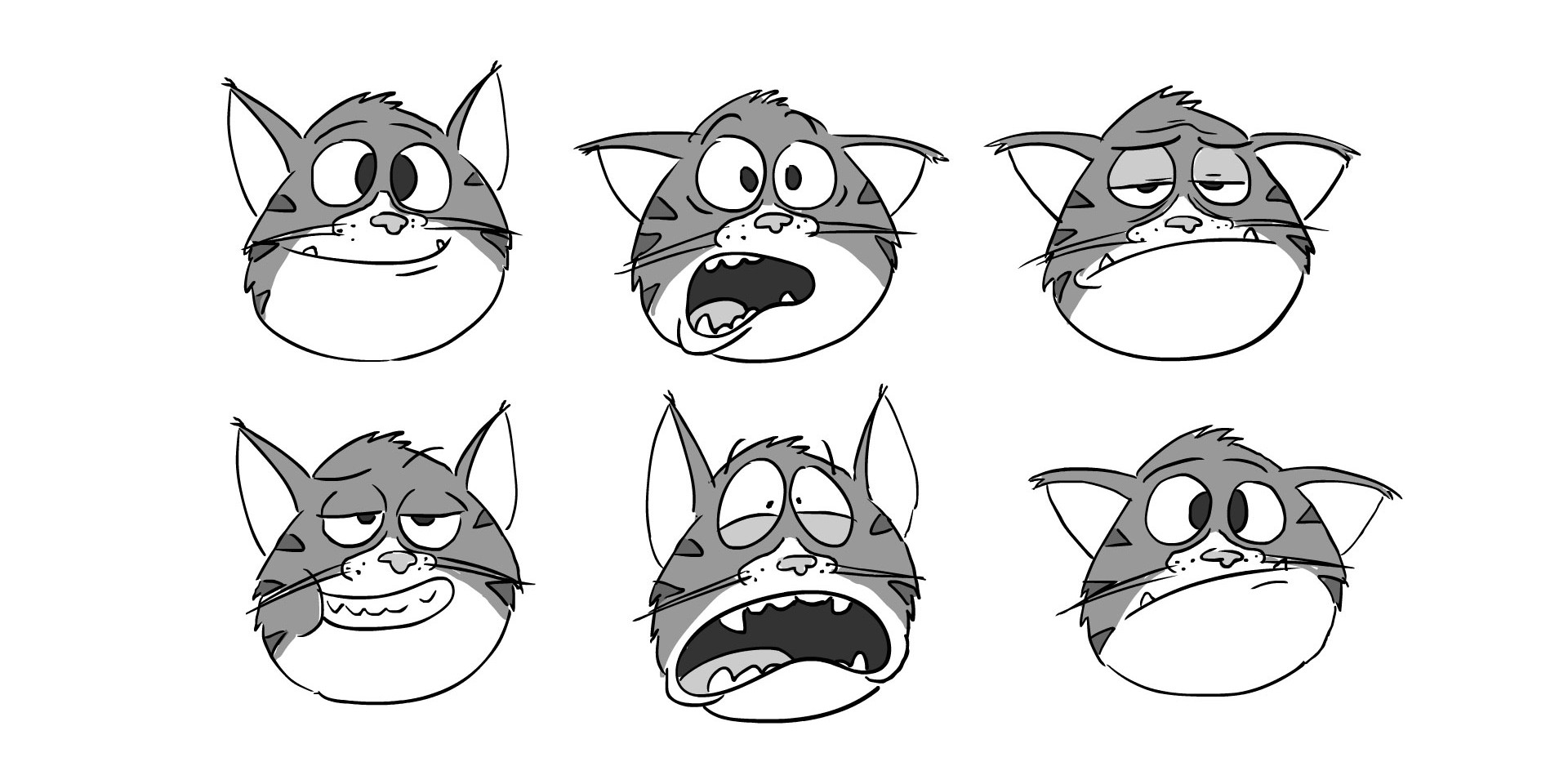 Male Cat Face Expressions