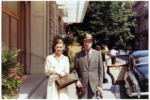 Mary Zimbalist : Photographs : Mary with her father