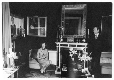 Mary Zimbalist : Photographs : Krishnamurti & Mary & Alain Naude