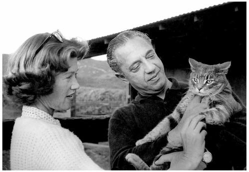 Mary Zimbalist : Photographs : Mary with Sam and cat