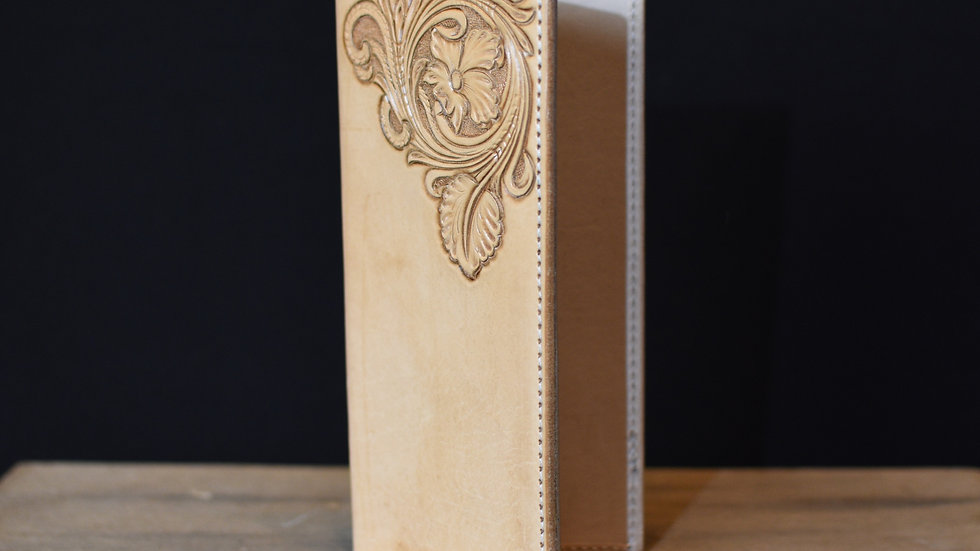 Tally Book Cover (Floral Tooling)
