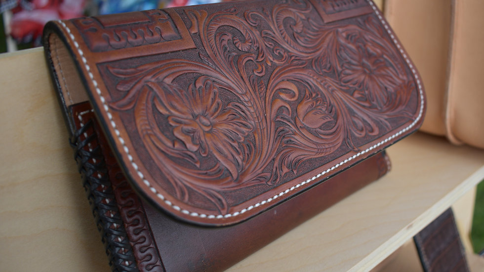 Floral Tooled Whitney Clutch