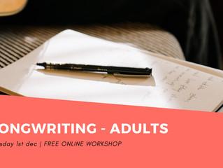 Songwriting Workshops December 2020!