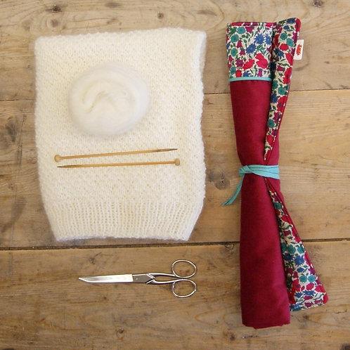 étui à aiguilles à tricoter