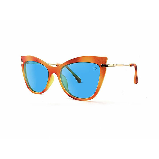 Ischia Faceted Cateye Sunglasses