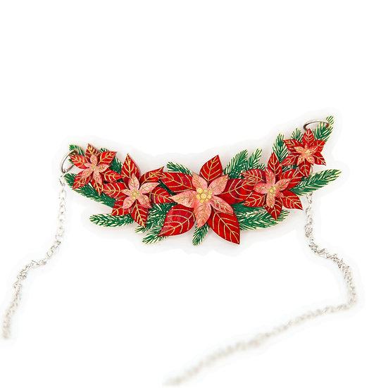 Poinsettia Necklace