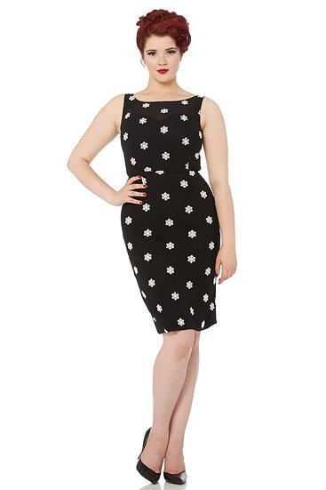 Lydia Snowflake Wiggle Dress