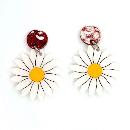 Mary Poppins Parody - Cherries & Daisies Earrings