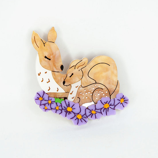 Doe & Fawn Brooch