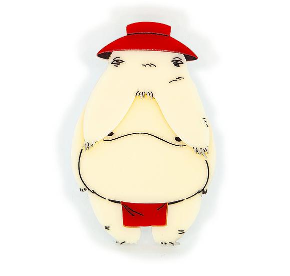 Ghibli Collection - Radish Spirit Brooch