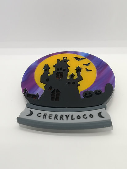 Haunted Globe Brooch