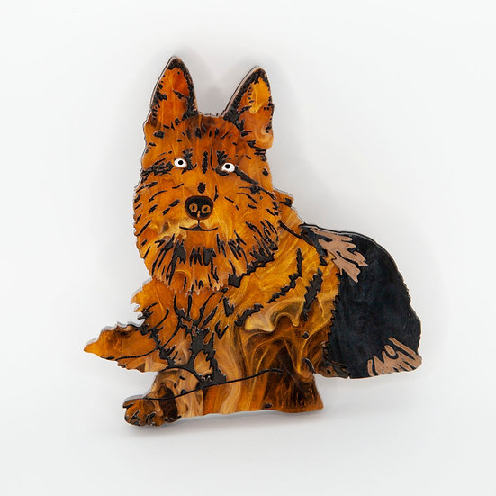 Gretel the German Shepherd brooch