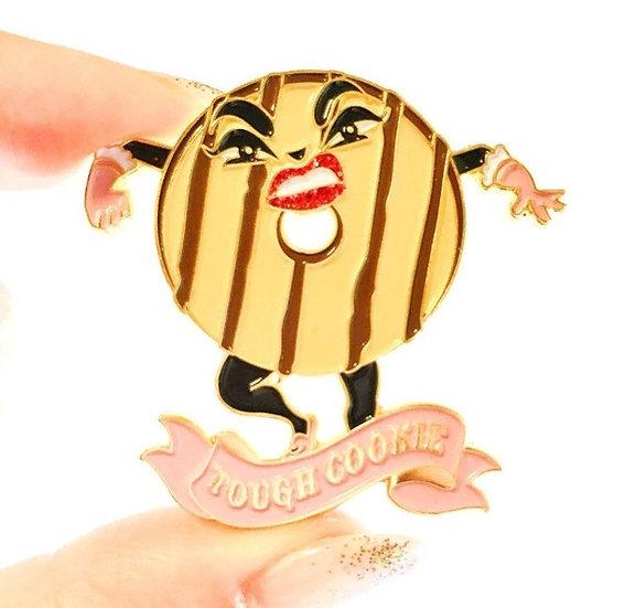 Tough Cookie enamel pin