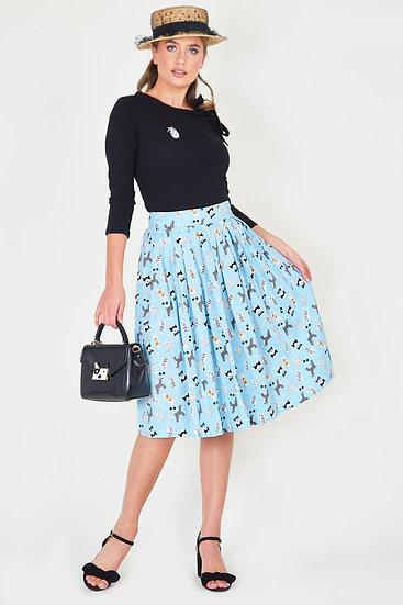 Dog Print Skirt