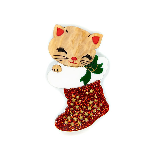 PRE-ORDER   Joy the Christmas Kitten brooch