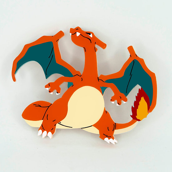 Charlizard Brooch - Pokemon