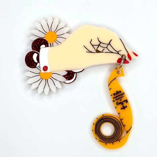 Mary Poppins Parody Brooch - Practically Perfect
