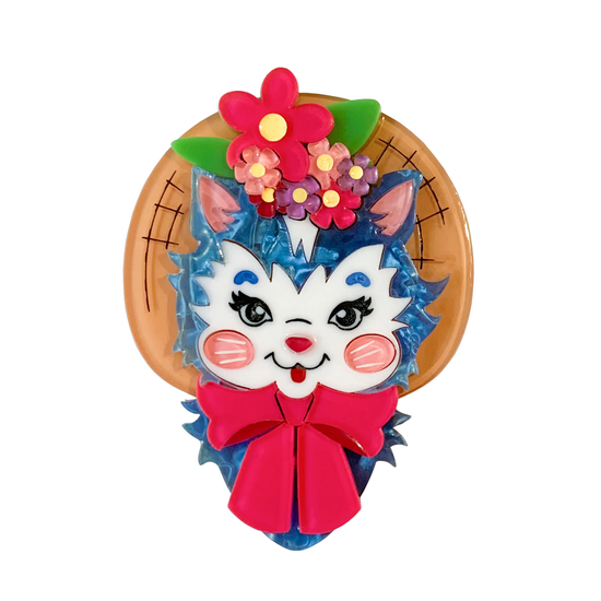 Cottage Core Kitty Brooch