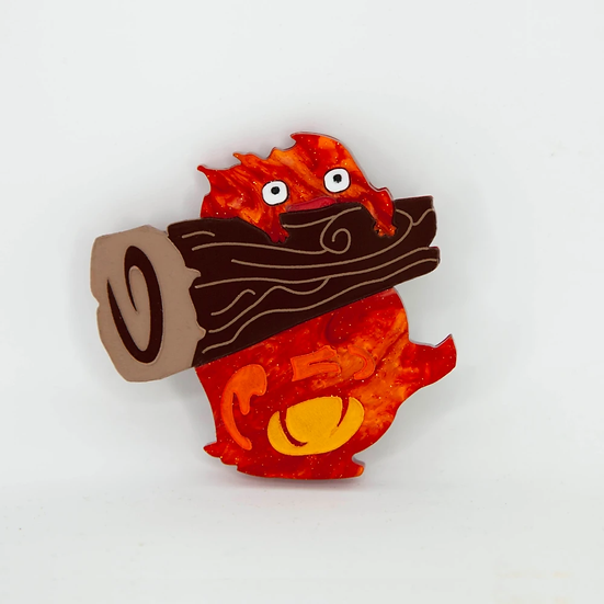 Ghibli Collection - Calcifer Brooch
