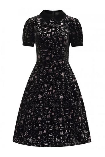 Peta Spooky Velvet Swing Dress