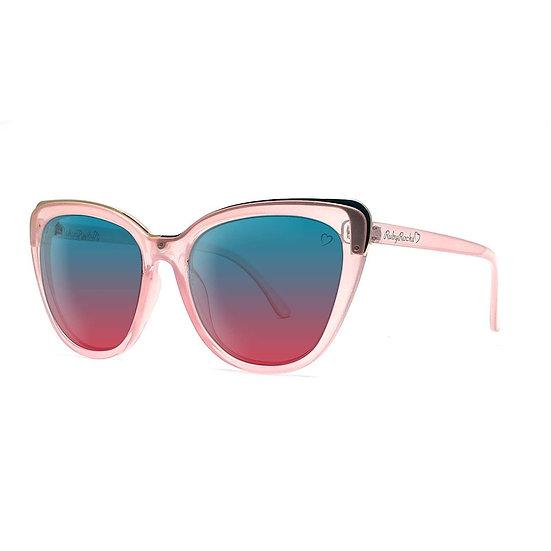 Roseanne Cateye Sunglasses in Crystal Pink