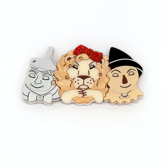 Tin Man, Lion and Scarecrow Brooch *PRE ORDER*