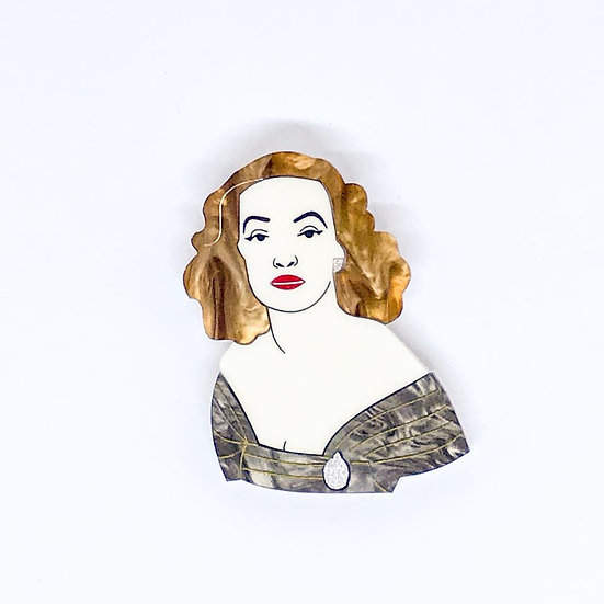 Bette - All About Eve Brooch