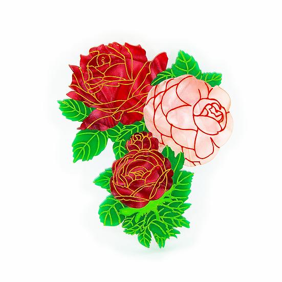 Roses in Bloom Brooch