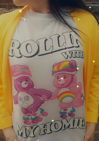 Rollin' With My Homies Tee -White (size M)