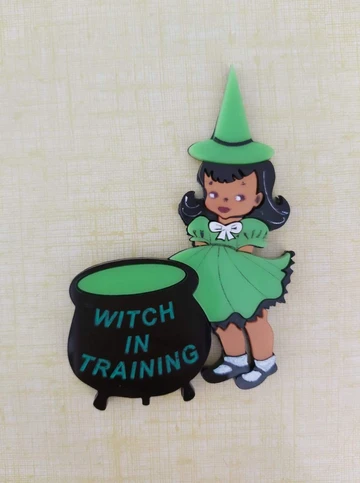 Witch in Training Brooch