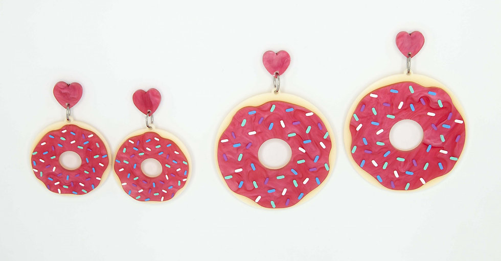 Dainty Donut Earrings - 2 Sizes Available
