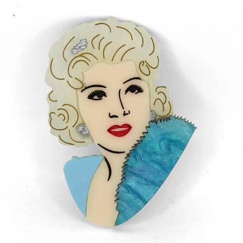 I'm No Angel - Mae West Brooch