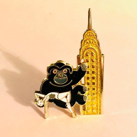 Gorilla on a Skyscraper sliding pin