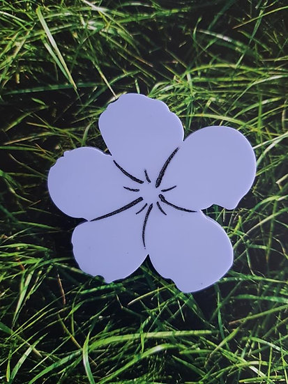 Andy Warhol inspired Floral Brooch in Lilac